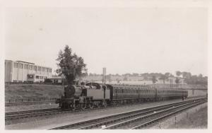 Class 2-6-2-T Train Leaves Elstree & Borehamwood Railway Station Old Real Pho...