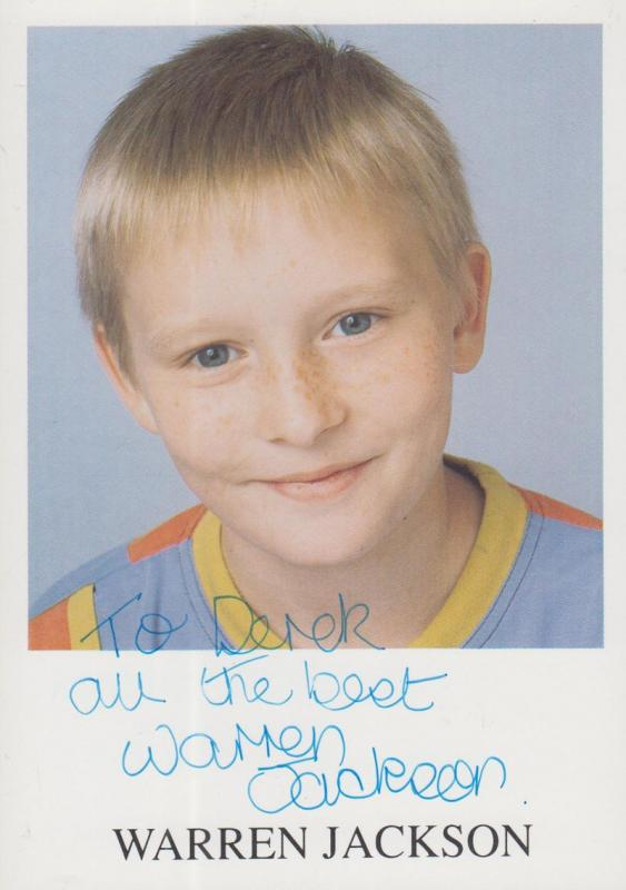 Warren Jackson Coronation Street Child Star Hand Signed Cast Photo