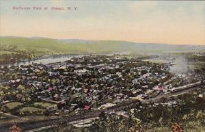 Bird's Eye View Of Owego New York