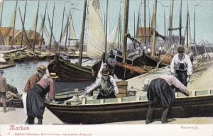 Netherlands Marken Havendijk Fishermen