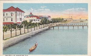 ST. AUGUSTINE, Florida, 1900-1910s;  Sea Wall