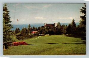 Murray Bay QC-Quebec Canada, The Club House, Golf Course, Chrome Postcard