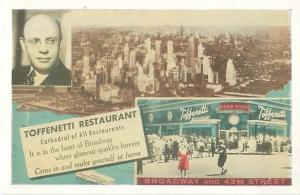 NY 43rd St Toffenetti Restaurant  Ulys Owens, Mg. 2 Views, Vintage Postcard