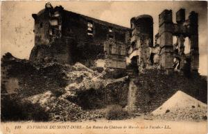CPA les Ruines du Chateau de MUROLS - la facade (409562)