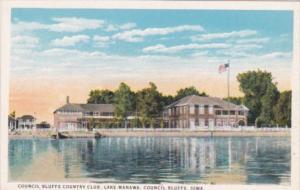 Iowa Council Bluffs Country Club Lake Manawa Curteich