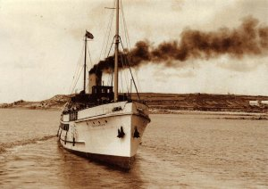 Postcard The Scillonian leaves St Marys for Penzance by Rail Photo Print 53V