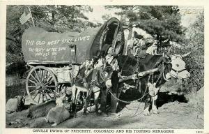 CO, Pritchett, Colorado, Orville Ewing, Wagon, Curteich No. 2B161