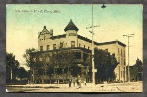 dc468 - CLARE Michigan 1911 The Calkin's Hotel. Sent to Canada