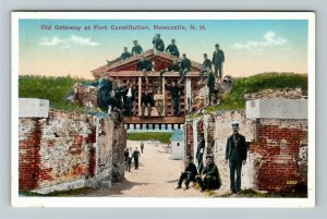 Newcastle NH-New Hampshire, Old Gateway Fort Constitution Vintage c1914 Postcard