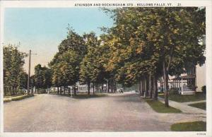 Vermont Bellows Falls Atkinson &  Rockingham Streets