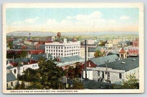 Hagerstown MD~Birdseye Business~Everlys Dry Goods Store~Water Tank~Antietam~1931