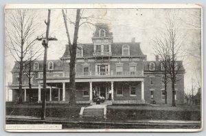 Lexington Missouri~Ladies College~Women on Porch~2nd Empire Architecture~1908