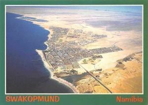 Namibia Swakopmund Aerial view Beach Aerial view Panorama