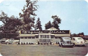 Wayne NJ Wayside Diner Route 23 Old Cars Postcard