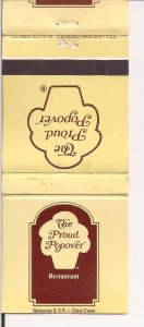 Matchbook Cover ! The Proud Popover, Toronto, Ontario. !