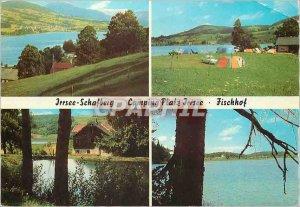 Postcard Modern Irrsee Schafberg Camping Platz Inrsee Fischhof