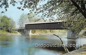White River Covered Bridge Jackson County, IN, USA Unused