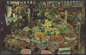 Produce,Farmers Market,Los Angeles,CA Postcard
