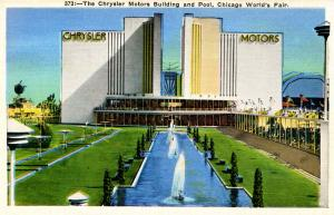 IL - Chicago. 1933 World's Fair-Century of Progress. Chrysler Motors Building...