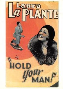 Laura LaPlante Hold Your Man Movie Poster Postcard