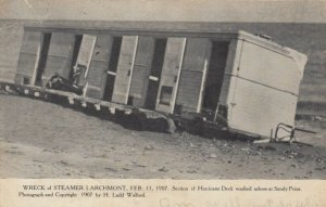 SANDY POINT  , R.I. , 1908 ; Steamer Larchmont wreck