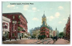 Early 1900s Franklin Square, Worcester, MA Postcard