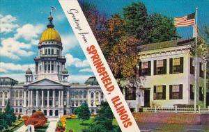 Illinois Springfield Greetings From Springfield Illinois
