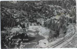 RP Kootenai River & Railroad Tracks Montana RPPC