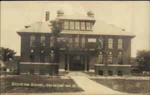 Groveton NH School c1915 Real Photo Postcard