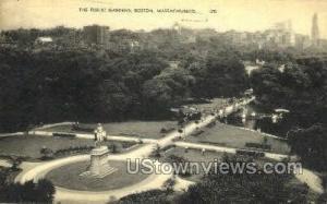 The Public Gardens Boston MA 1943