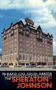 Sheraton Johnson, Rapid City, SD, USA Motel Hotel Postcard Post Card Old Vint...