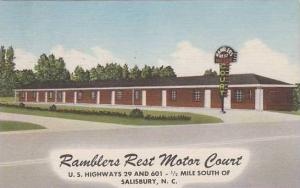 North Carolina Salisbury Ramblers Rest Motor Court