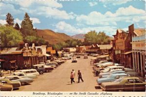 WINTHROP  WASHINGTON~ON THE NORTH CASCADES HIGHWAY POSTCARD 1960s
