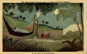 brazil, MATTO GROSSO, The Tertiary Franciscans Mission, Resting (1930s)