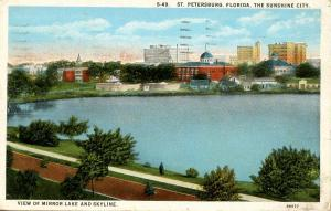 FL - St Petersburg. Mirror Lake and Skyline