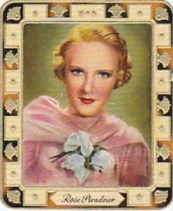 Aurelia German Vintage Cigarette Card Film Stars 1936 No 5 Rose Stradner