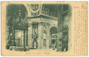 Italy, Basilica di S. Pietro in Vaticano, 1901 used Postcard