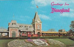 Santa Fe and Disneyland Railroad Depot Greetings From Disneyland California