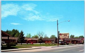 Denver, Colorado Postcard BRANDIN' IRON MOTOR LODGE Colfax Ave Roadside c1950s