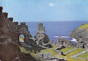 England Tintagen Castle, Cornwall, View North-east across Inner Ward