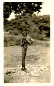 Trinidad - Native Boy     *RPPC