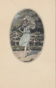ART DECO ; MESCHINI ; Female portrait #2, 1910-30s