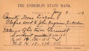 Enderlin North Dakota State Bank County Treasurer Private Mail PC JD933378