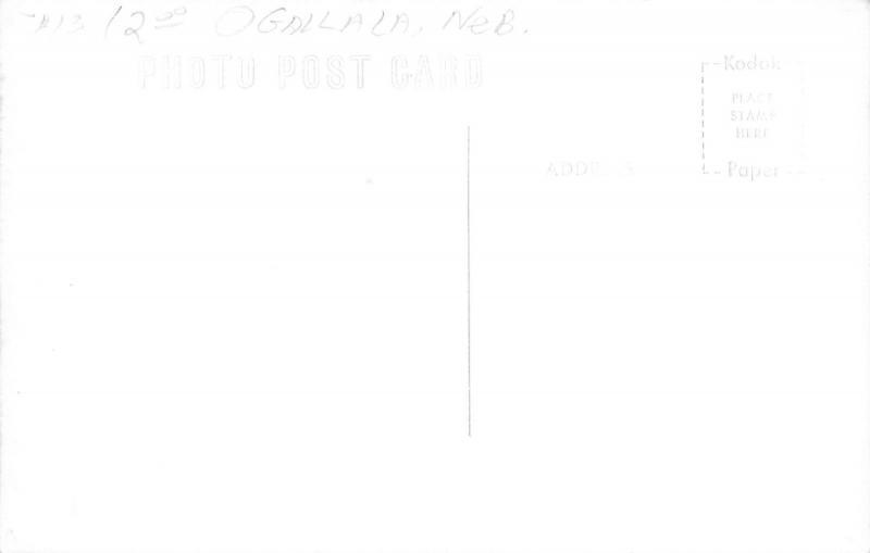 Ogallala Nebraska~Main Street~Munster Appliance~Walgreen Agency~1950s Cars~RPPC