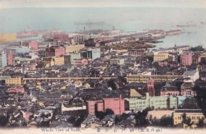 Whole View Of Kobe Aerial Japanese Japan Old Postcard