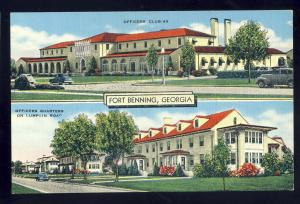 Fort Benning, Georgia/GA Postcard, Officers Club & Officers Quarters