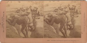 SV: Philippines , 1900 ; Our Boys entrenched against the Filipinos