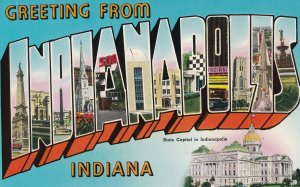 Large Letter INDIANAPOLIS, Indiana, 1950-1960s
