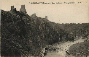 CPA CROZANT Les Ruines - Vue Generale (1143816)