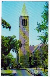 NY - Ithaca. Library & Tower, Cornell University